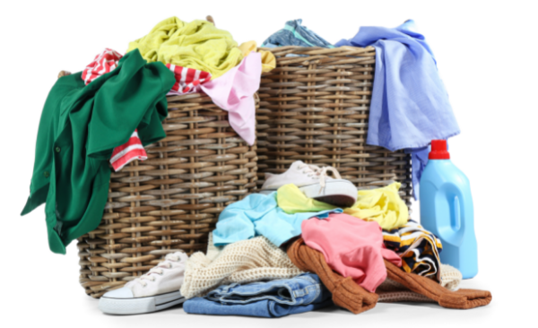 dirty clothes laundry baskets